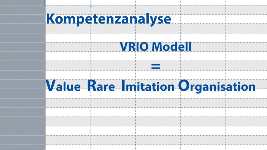Kompetenzanalyse VRIO Modell Excel