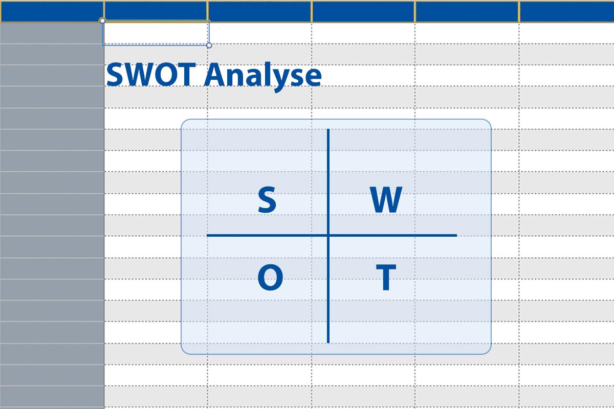 SWOT Analyse mit Excel Vorlage
